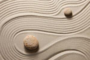 Image of sand from a zen garden