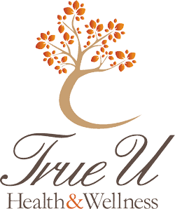 Image of True U Health & Wellness vertical Logo in color
